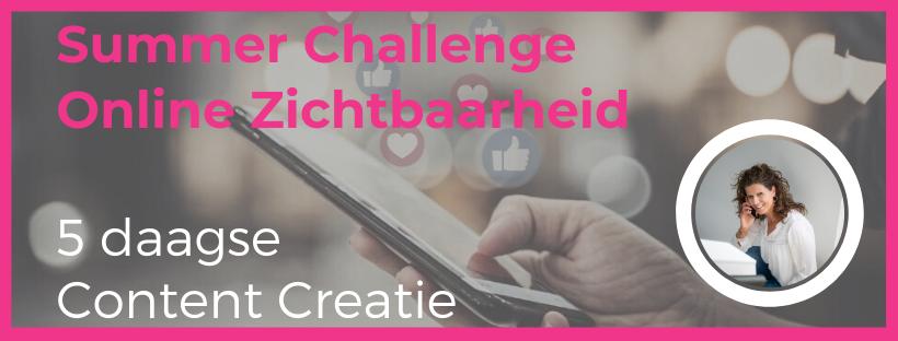 Banner Summer Challenge online zichtbaarheid